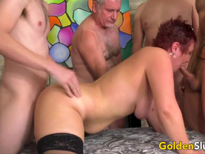 Golden Slut - Depraved Gangbangs for Older Cum Dumpsters Compilation