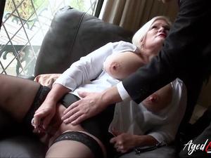 AgedLovE Busty Britsh Mature Intimate Masturbation