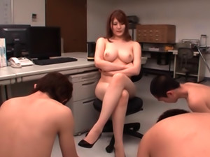 Teacher Momoka Nishina Sucks Off Three Students