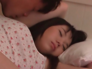 Asian teen model gets fucked hard in bed