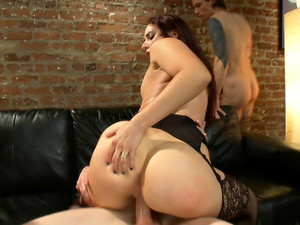 Dirty girlfriend Sheena Ryder gets covered in cum
