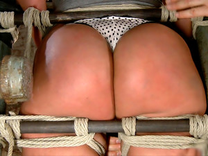TIED WIDE OPEN for DOUBLE PENETRATION