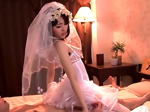 Milf In A Wedding Dress Is Enjoying Her Honeymoon
