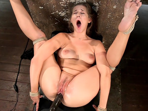Fresh Meat in Extreme Bondage Suffering Through Torment and Squirting Orgasms!!