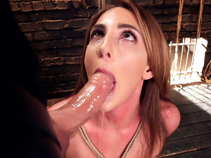 Big Ass Double Penetration Squirting Bondage Slave, Savannah Fox