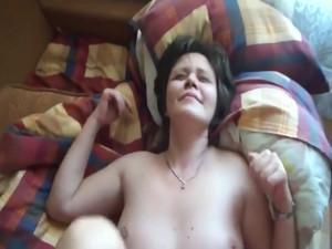 Russian wife sucks and fucks at home in a hot POV