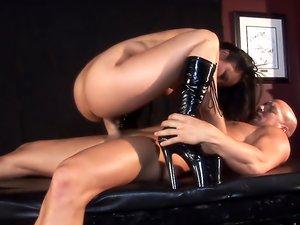 Asian Annie Cruz dominates cock!