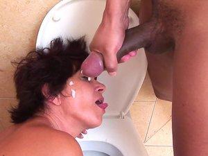 Asslicking housewife loves cum