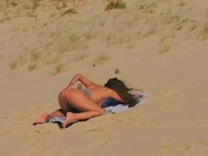 Vayana Masturbates and Gets Ass Fucked While Lying on the Beach