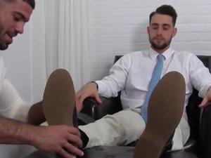 KC's New Foot & Sock Slave - KC