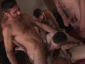 Poor James Takes An Onslaught Of Cock! - James Lewis And Luke Desmond Orgy