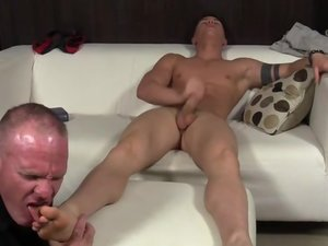 Dev Worships Sebastian Hook's Feet - Sebastian