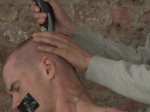 Head Shaved And Face Fucked! - Sebastian Evans And Ashton Bradley