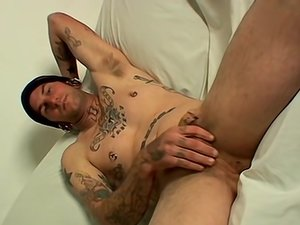 Straight Naked Tattooed Alpha Male Cums - Holes