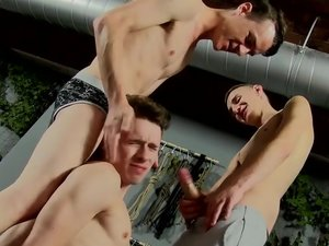 Oscar Gets Used By Hung Boys - Oscar Roberts, Reece Bentley And Sean McKenzie