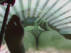 Top secret spy cam of public gay solarium