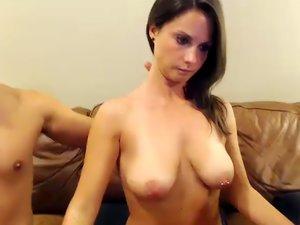 Girl handles two cocks