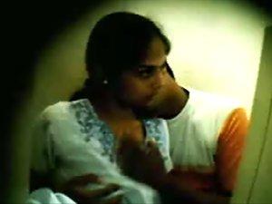 Naughty Indian couple caught on hidden camera