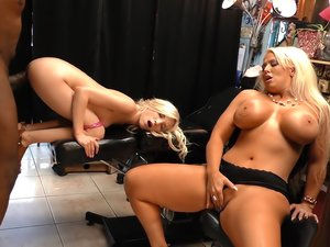 Alura Jenson And Piper Perri By Watching My Mom Go Black