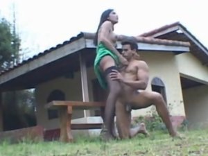 Bruna and Poax shemale fucks guy action