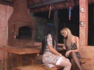 Agatha and Deise shemale fucks lady video