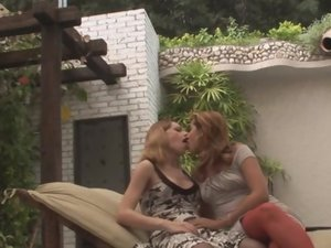 Alessandra and Joyce tranny fucks gal movie
