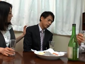 Japanese Babe Gets Fucked By A Mature Man